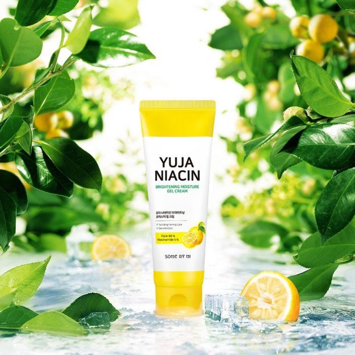 somebymi yuja niacin brightening moisture gel cream